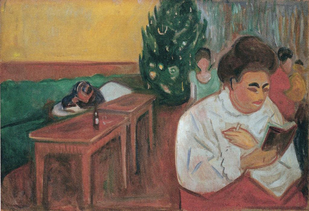Edward Munch, kerstmis in het bordeel, 1903-1904