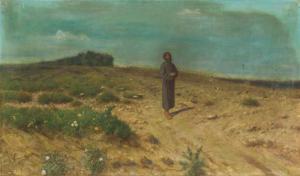 Franciscus met vogels en bloemen