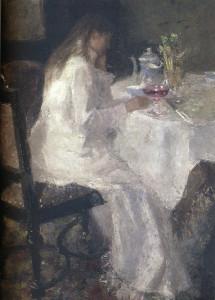 Jan Toorop, dame in het wit (Annie Hall), 1886, particulier bezit LR