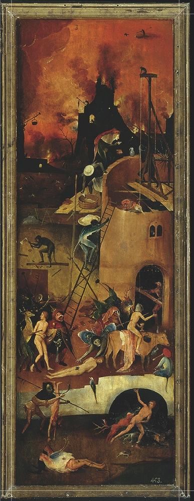 Jheronimus Bosch, zijluik de Hooiwagen, 1510-1515, Museo Nacional del prado