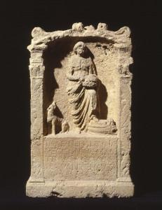 Altaar voor godin Nehalennia - Collectie en foto Rijksmuseum van Oudheden