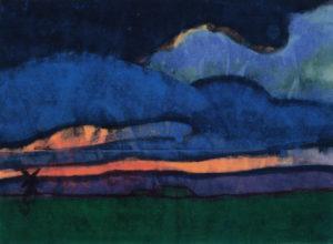 Emil Nolde_Moeraslandschap met molen_ca 1920-1925