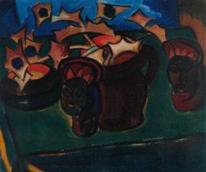 Karl Schmidt Rothlu_Stilleven Afrikaanse pijpenkoppen_1913_Kunsthalle Bremen