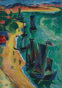 Max Pechstein_Teruggekeerde zeilschepen_1919
