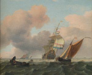 Ludolf Bakhuizen_Woelige zee met schepen
