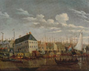 Scheepvaartmuseum_Abraham Storck_Oude jachthaven van Amsterdam