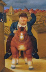 Botero_man en paard_