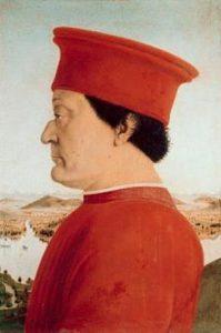 Pierro della Francesca, Frederico da Montefeltro, Uffizi, Napoli