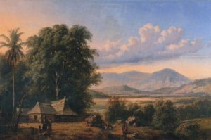 Raden Saleh_Indonesisch landschap met kampong