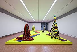 Fransje Killaars_Textile colour fields_installatie