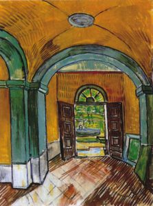 Vincent van Gogh_Hal_psychiatrisch ziekenhuis_Saint Remy,_Van Gogh Museum_Amsterdam