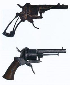 Revolver lafauchex a broche, 1865-1893, prive collectie.
