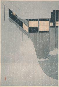 Komura Settai_Sneeuw in de ochtend