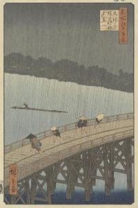 Utagawa Hiroshige_onverwachte regenbui