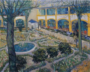 Van Gogh_binnenplaats ziekenhuis_1889