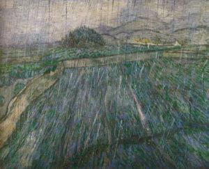 Van Gogh_Ommuurd veld_regen_1889