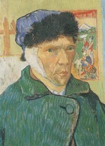Van Gogh_zelfportret_verbonden oor_1889