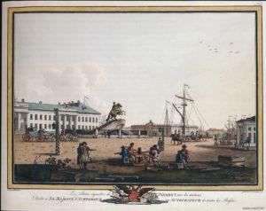 Benjamin Patersen, Het ruiterstandbeeld van Peter de Grote op het senaatsplein, 1806 © State Hermitage Museum, St Petersburg