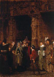 Lawrence Alma-Tadema, bij het verlaten van de kerk