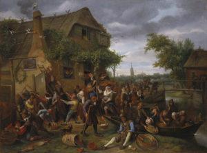 Jan Steen_vechtende boeren_herberg