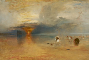 Turner, Calais, low water,collecting bate