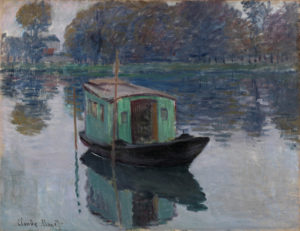 Monet, atelierboot