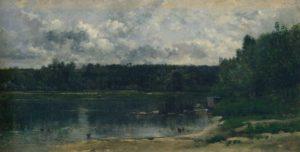 Daubigny, riviergezicht met eenden, le Botin