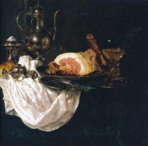 Heda, stilleven, zilveren kan, 1656