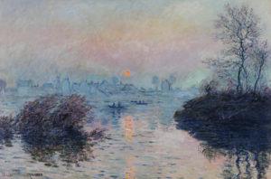 Monet, soleil couchant, zonsondergang