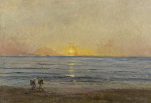 Daubigny, ondergaande zon, Villerville
