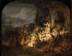 Rembrandt, prediking van Johannes