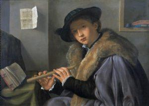 Savoldo, portret van jongeman met fluit