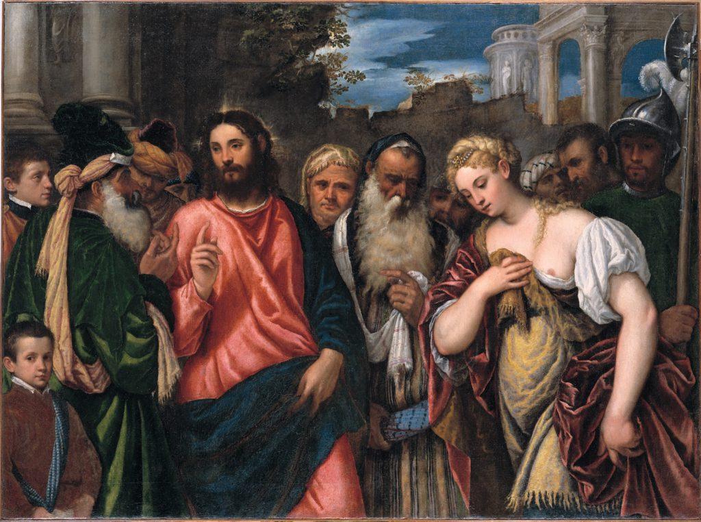 Polidoro, Christus en de overspelige vrouw