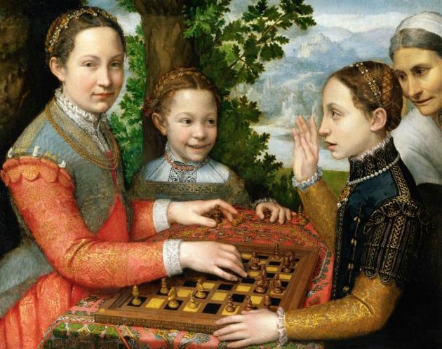 Anguissola, Schaakspel