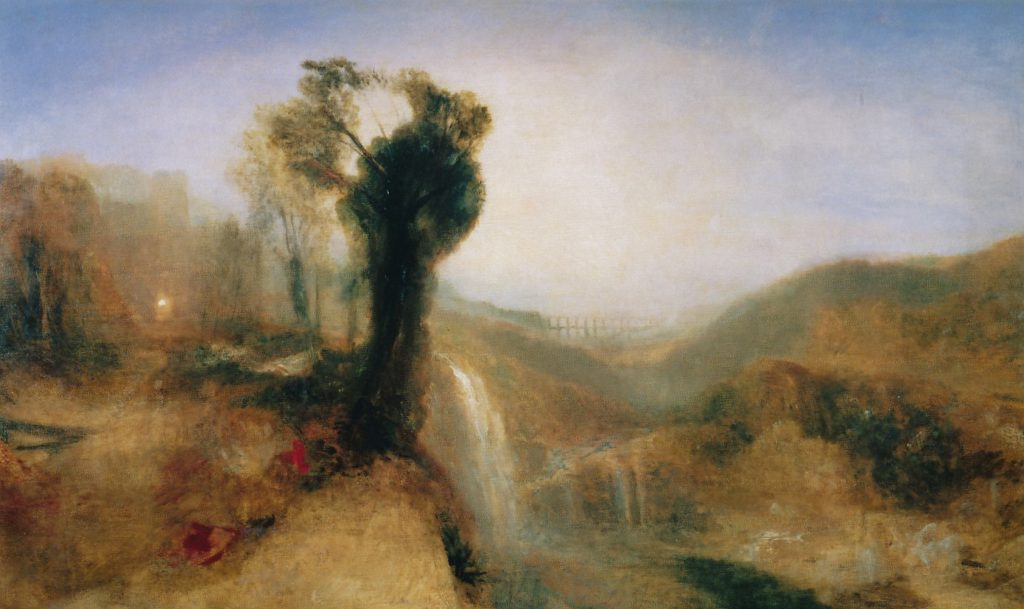 Turner, aquaduct, waterval