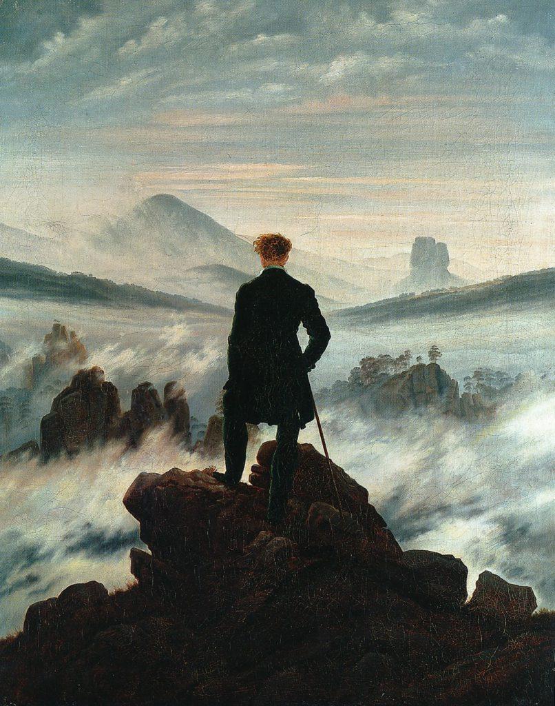 Friedrich,wandelaar, nevelen