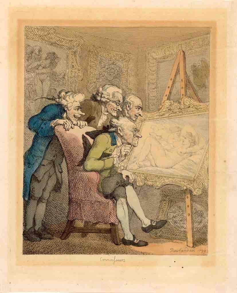 Rowlandson, Vier mannen, Venus