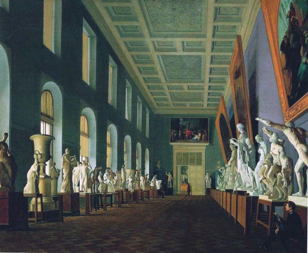 Antieke beeldengallerij St. Petersburg