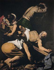 Caravaggio, kruisiging van Petrus